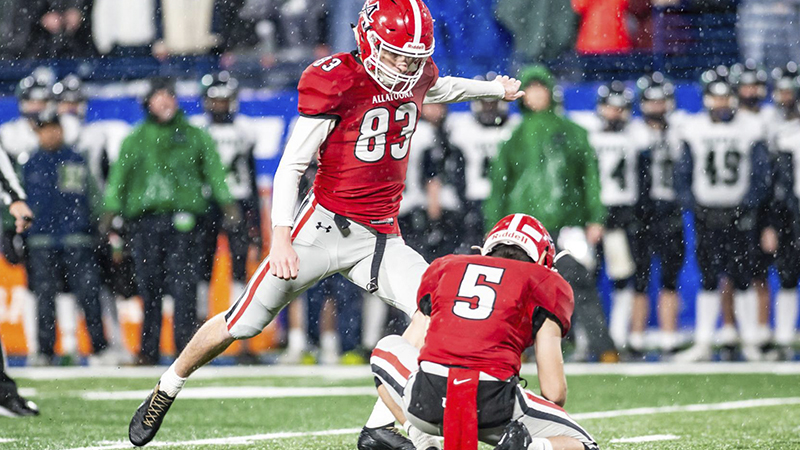 Allatoona kicker Jude Kelley is betting on himself