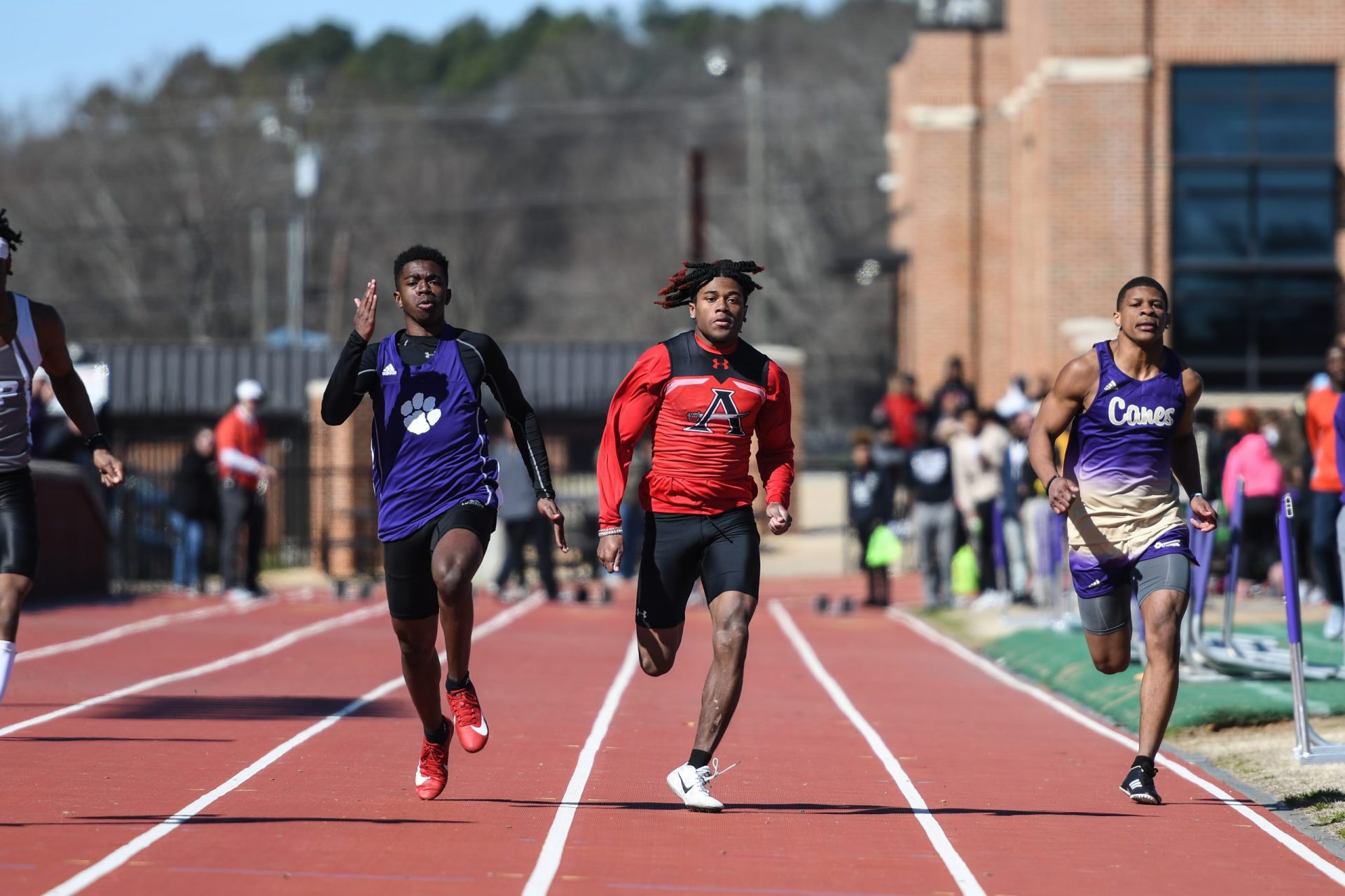 Allatoona Varsity Track and Field at Cartersville HS Purple Hurricane Invitational on February 29, 2020 - Cartersville, GA. Credit - Chrystal Moore